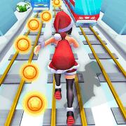 Subway Santa Princess Runner MOD APK